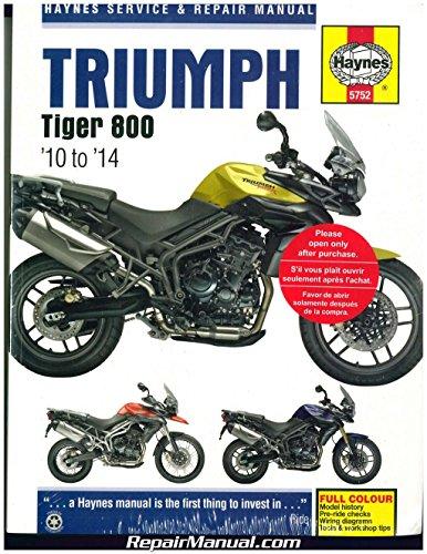 H5752 Triumph Tiger 800/800 XC 2010-2014 Motorcycle Repair Manual by Haynes