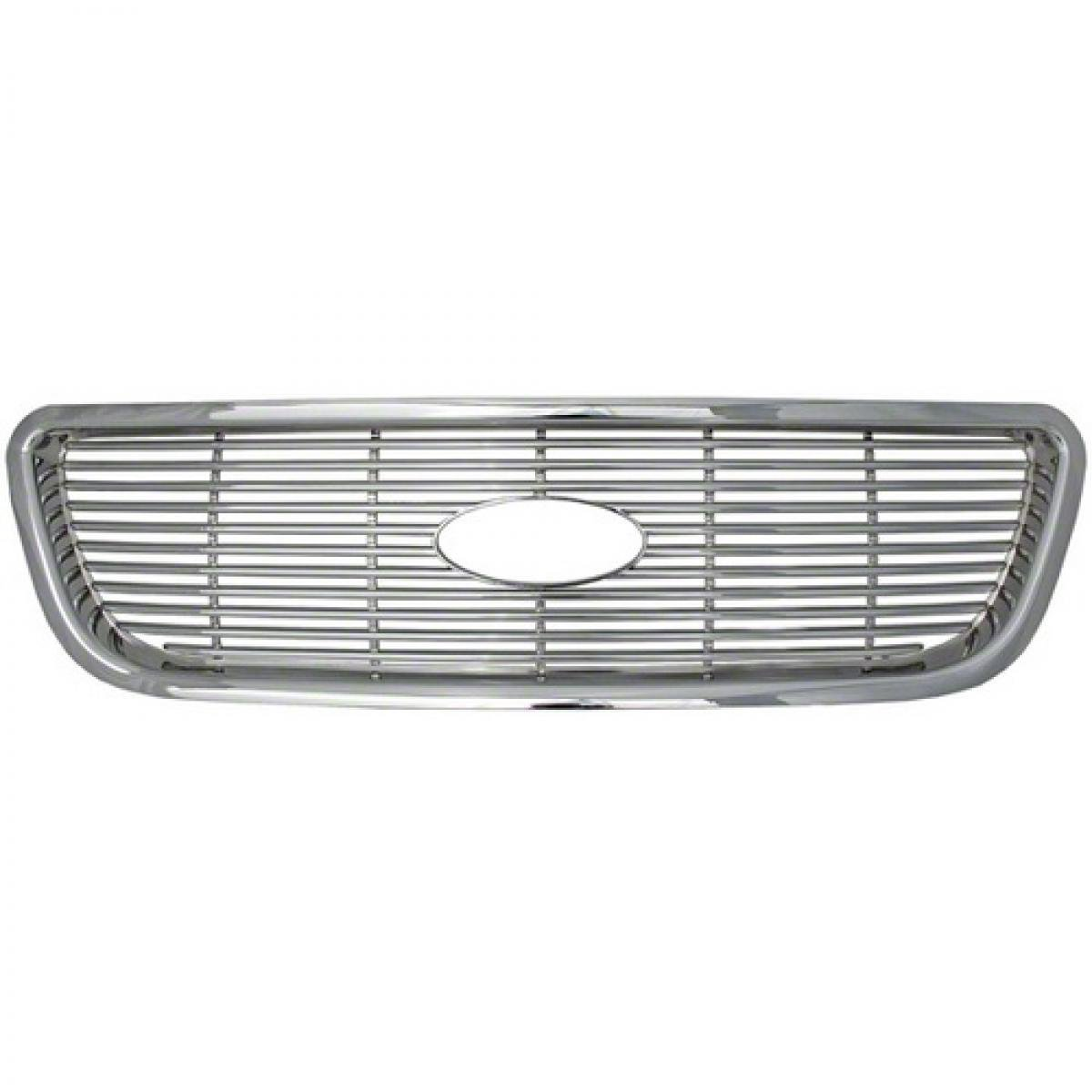 Triple Chrome Plated ABS Plastic - 4 Pieces Bully GI-113 Ford F150 Grille Overlay
