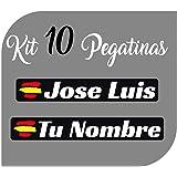 Pegatina Vinilo Bandera España + tu Nombre - Bici, Casco, Pala De ...