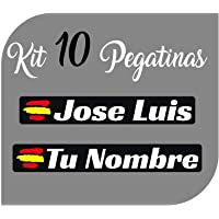 Kit x10 Pegatinas Vinilo Bandera España + tu