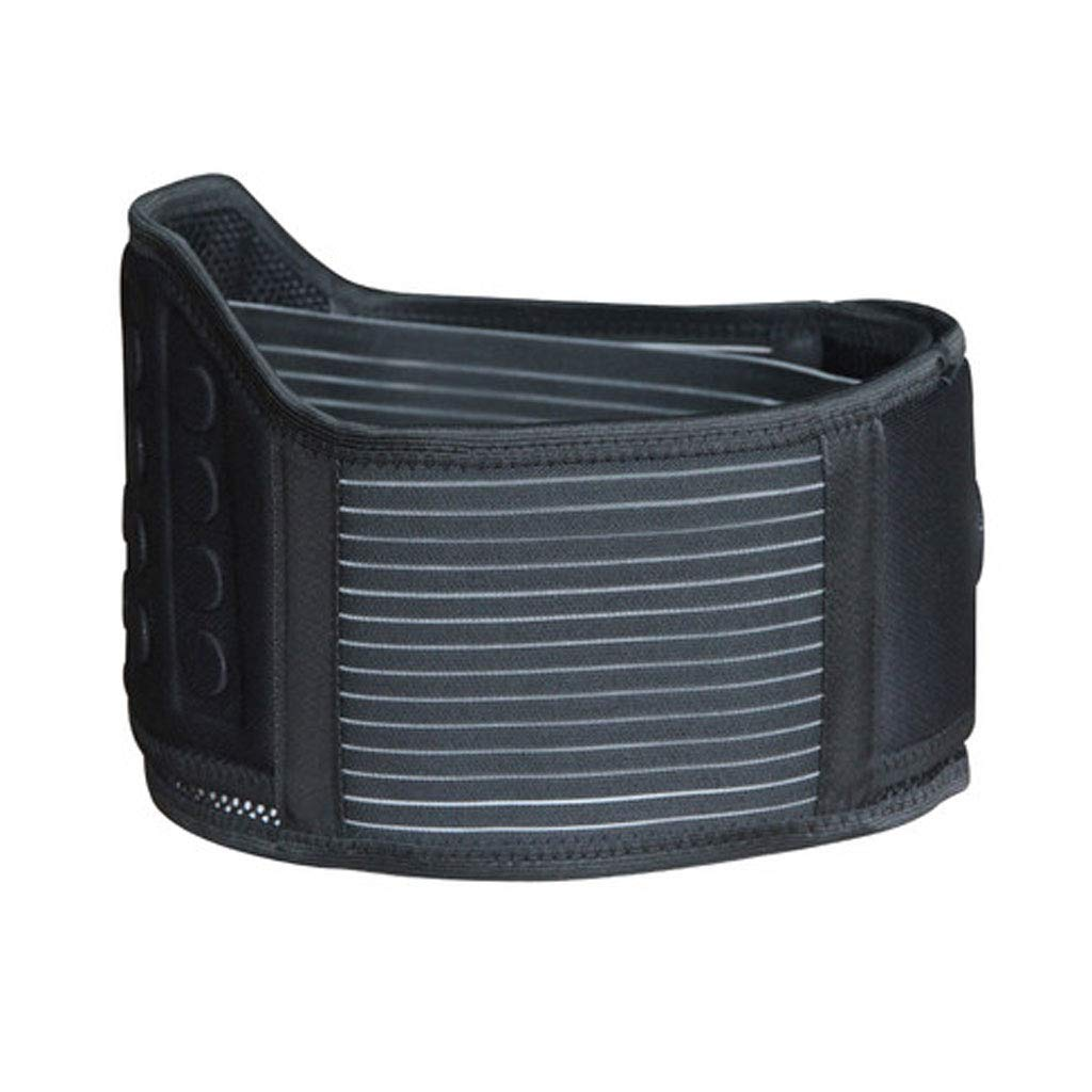 WYNZYHY Magnet Belt, Lumbar Disc Herniation for Middle-Aged and Elderly Health Care Strain Plate Warm Waist Support (Size : M)