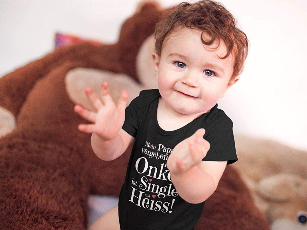 Shirtgeil Geschenke von und f/ür den heissen Onkel Baby Body Kurzarm-Body