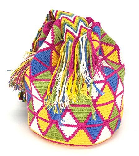 Mochila Wayuu, Bolsos Colombianos Artesanales DIBUJOS (GUAJIRA): Amazon.es: Zapatos y complementos