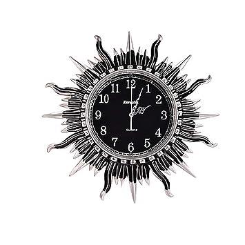 ZHILIAN& Inicio Reloj De Pared Interior Reloj De Pared Relojes De Decoración Relojes Creativos con Forma De Sol Digitales Relojes Ecológicos De Resina ...