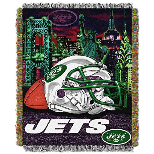- The Northwest Company Officially Licensed NFL New York Jets Home Field Advantage Woven Tapestry Throw Blanket, 48