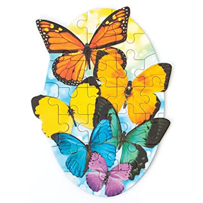 Playhouse Rainbow Butterflies 22-Piece Die-Cut Shaped Mini Puzzle for Kids: Arts, Crafts & Sewing