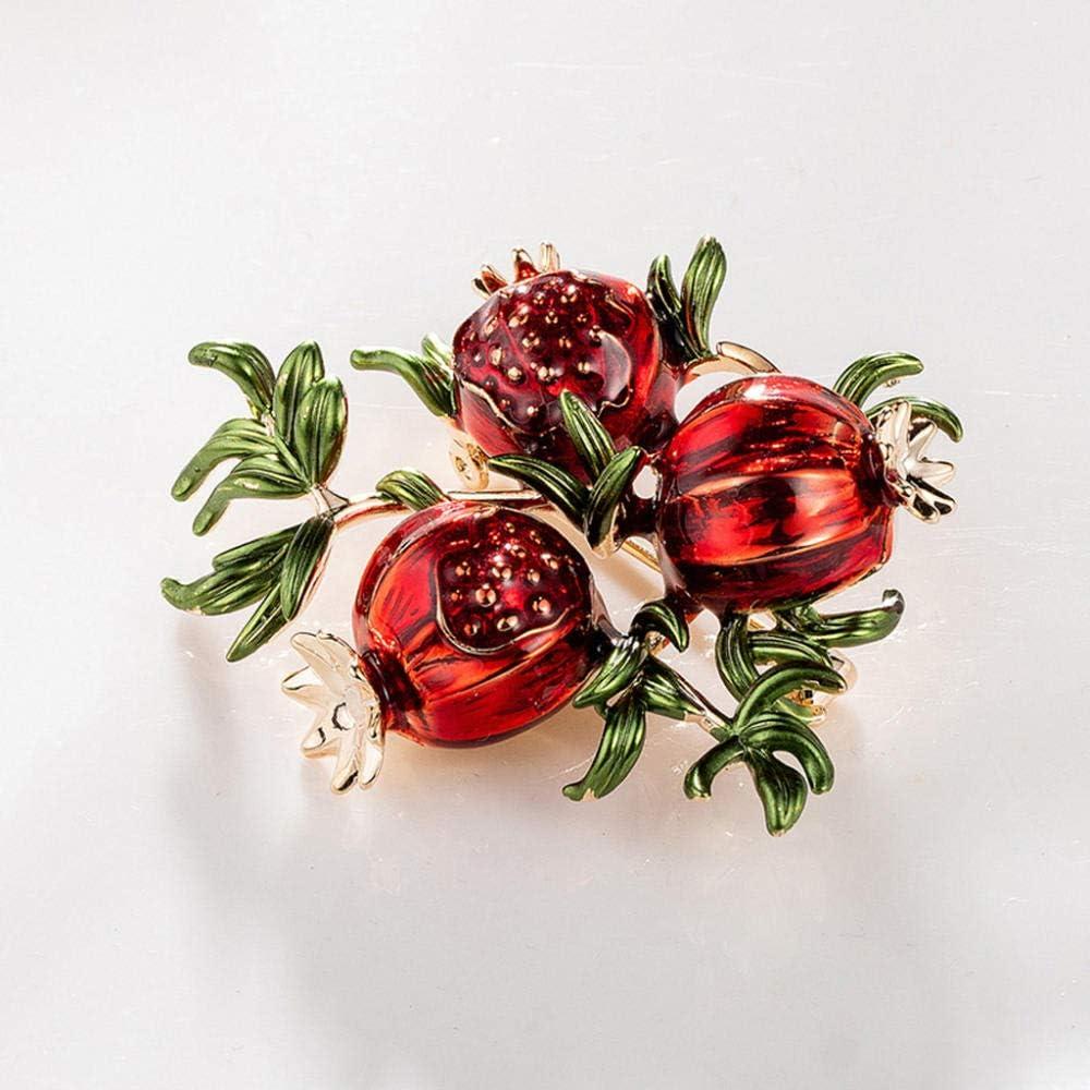 Chennnnnn Vintage Mode Obst Brosche////Tropfen /Öl Granatapfel Brosche