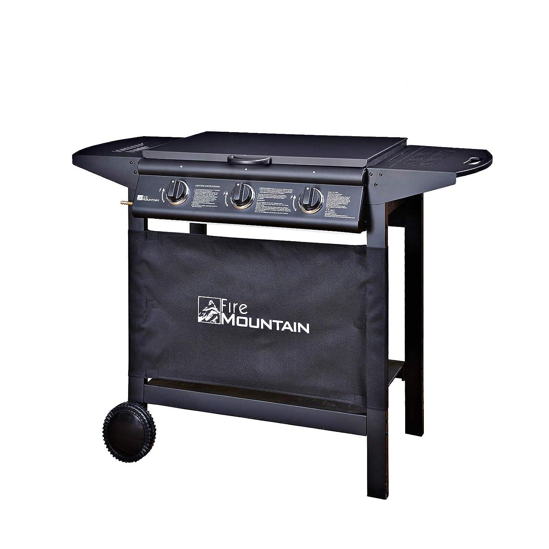 Fire Mountain Asgard 3 Burner Compact Gas Barbecue - with Free Propane Regulator & Hose