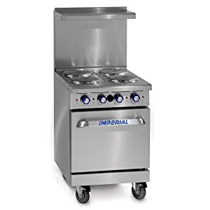 """Imperial Commercial Restaurant Range 24"""" With 4 Elements 20"""" Standard Oven Electric Model Ir-4-E"""