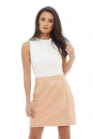 d7b14cfdc4ccc AX Paris Women's 2 in 1 PU Mini Dress at Amazon Women's Clothing store: