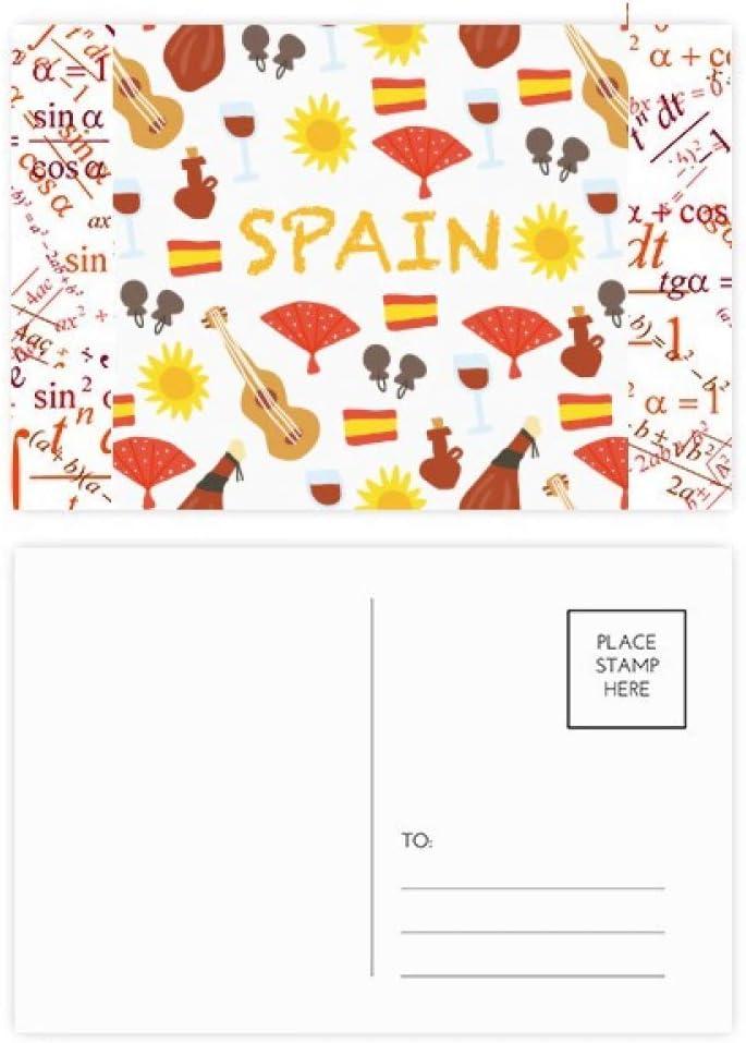 DIYthinker España Flamenco Alimentos Fórmula tarjetas postales establecido Gracias tarjeta de correo lateral 20Pcs 5,7 pulgadas x 3,8 pulgadas Multicolor: Amazon.es: Oficina y papelería