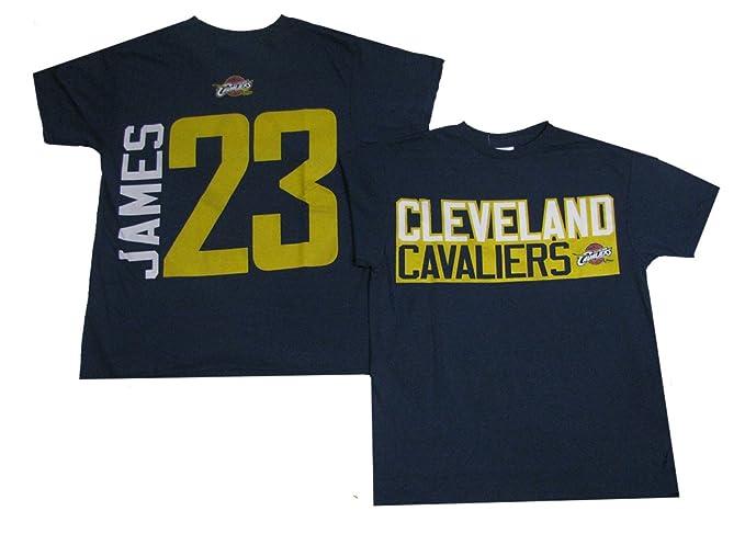 NBA Cleveland Cavaliers Lebron James # 23 2 cara camiseta - Azul -: Amazon.es: Ropa y accesorios