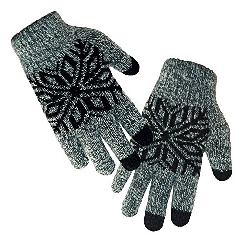LETHMIK Kids Winter Knit Gloves Children Wool Lined Warm
