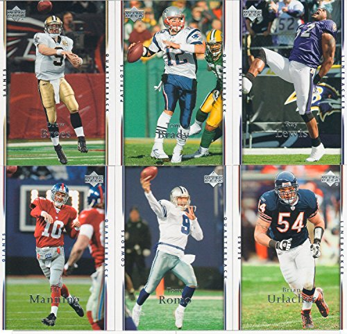 2007 Upper Deck NFL Football Series Complete Mint Basic 200 Card Set with Tom Brady (Matt Leinart Nfl Jersey)