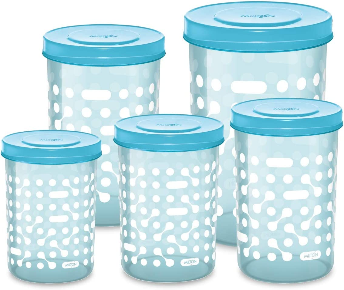 Milton Storex Container Sets - Available in 3 Colors/Sizes (Blue, 5)