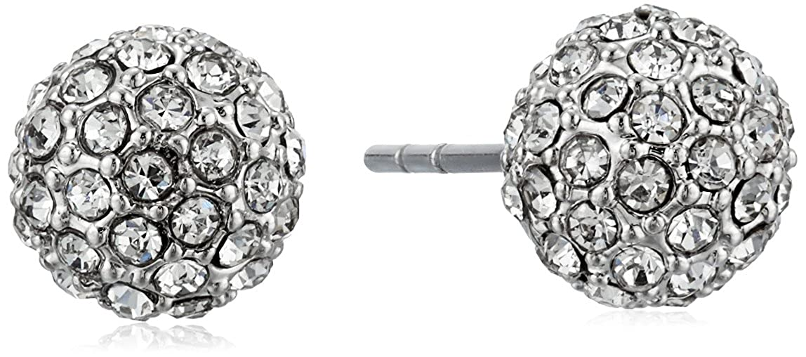 29af54142 Amazon.com: Rebecca Minkoff Crystal Ball Rhodium/Crystal Stud Ball Earrings:  Jewelry
