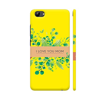 new product b9dd6 59696 Colorpur I Love You Mom in Yellow Printed Back Case: Amazon.in ...