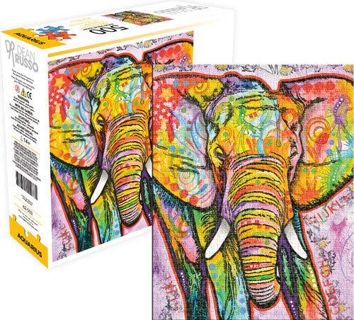Aquarius Dean Russo Elephant 500 Piece Jigsaw Puzzle