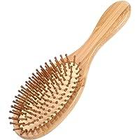Pretty See Brosse à cheveux en bois Brosse de massage pour cuir chevelu Brosse de massage pour cuir chevelu Peigne à coussin d'air Brosse anti-statique peigne jaune