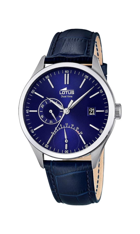 ccfddd8bde49 Lotus 18214 3 - Reloj de pulsera para hombre (mecanismo de cuarzo ...