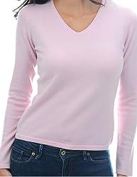 e22633d2663071 Balldiri 100% Cashmere Kaschmir Damen Pullover 2-fädig V-Ausschnitt zartrosa