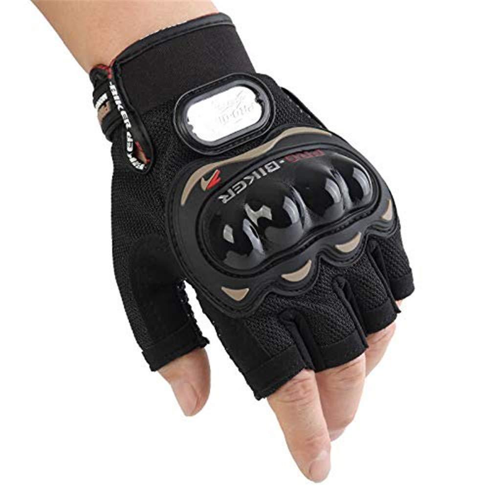 para deportes de carreras Guantes cortos de piel para motocicleta Pro Biker