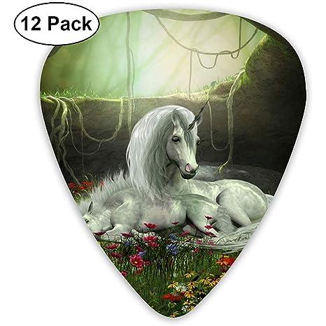 Unocarn Mare And Foal Púas de guitarra personalizadas 12 piezas ...