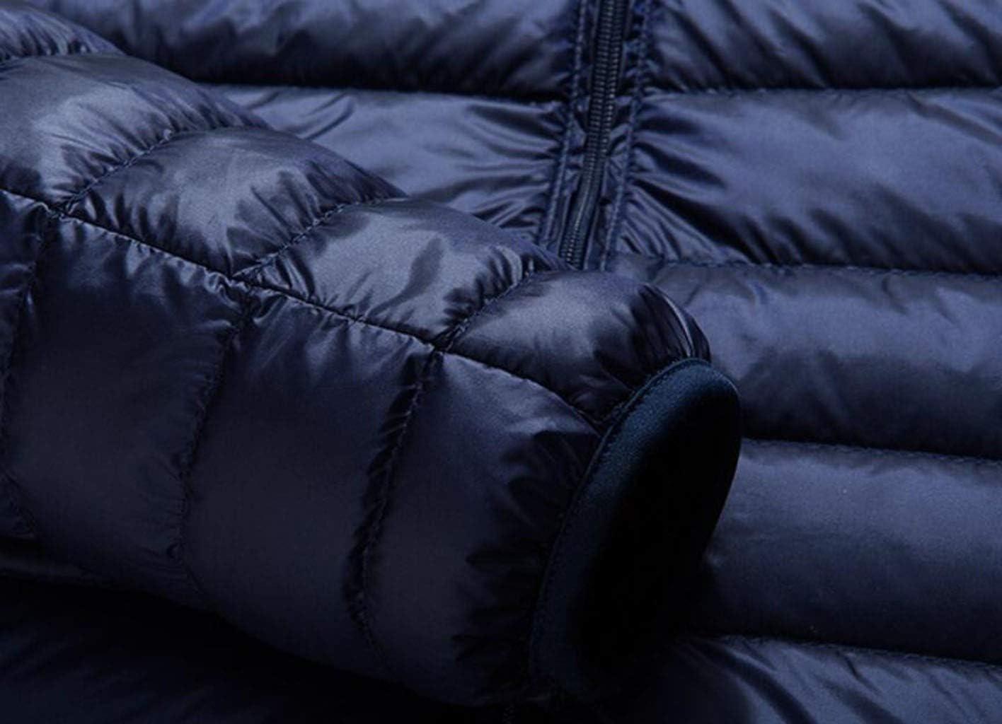 BLHZPD Inverno Giù Freddo Caldo Cappotto di Grandi Dimensioni Uomini Sottili di Luce Collare Breve Supporto degli Uomini del Rivestimento di Blue
