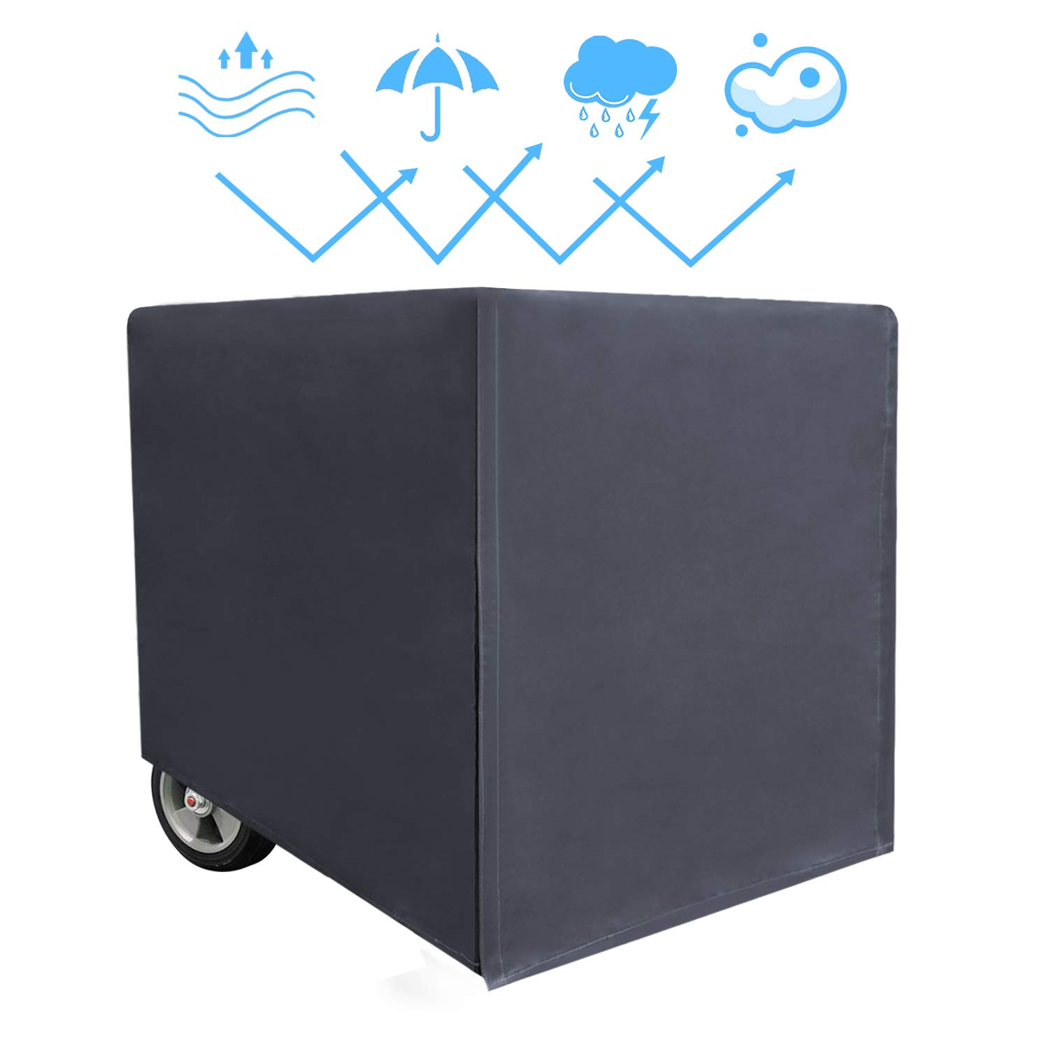 Covolo Generator Cover-100% Waterproof Durable Universal- Heavy Dustproof Storage Cover,Suits Generators up to 28x38x30 inch by Covolo