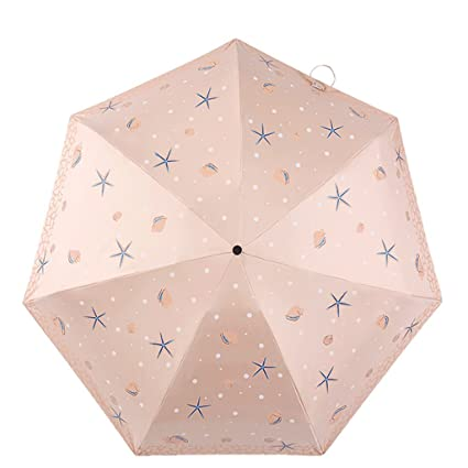 Paraguas de sombrilla de Bolsillo Sol Ultravioleta Solar Ultraligero QIQIDEDIAN (Color : Orange)