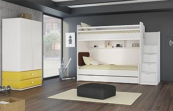 Etagenbett Mit Regal Treppe : Kinder jugendzimmer komplett hochbett inkl regal unterbett