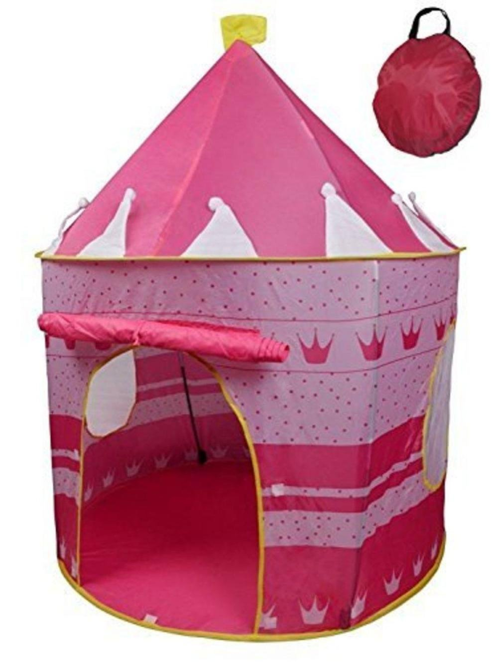 Amazon.com POCO DIVO Crown Princess Castle Girls Outdoor Tent Pink Indoor Play House Toys u0026 Games  sc 1 st  Amazon.com & Amazon.com: POCO DIVO Crown Princess Castle Girls Outdoor Tent ...