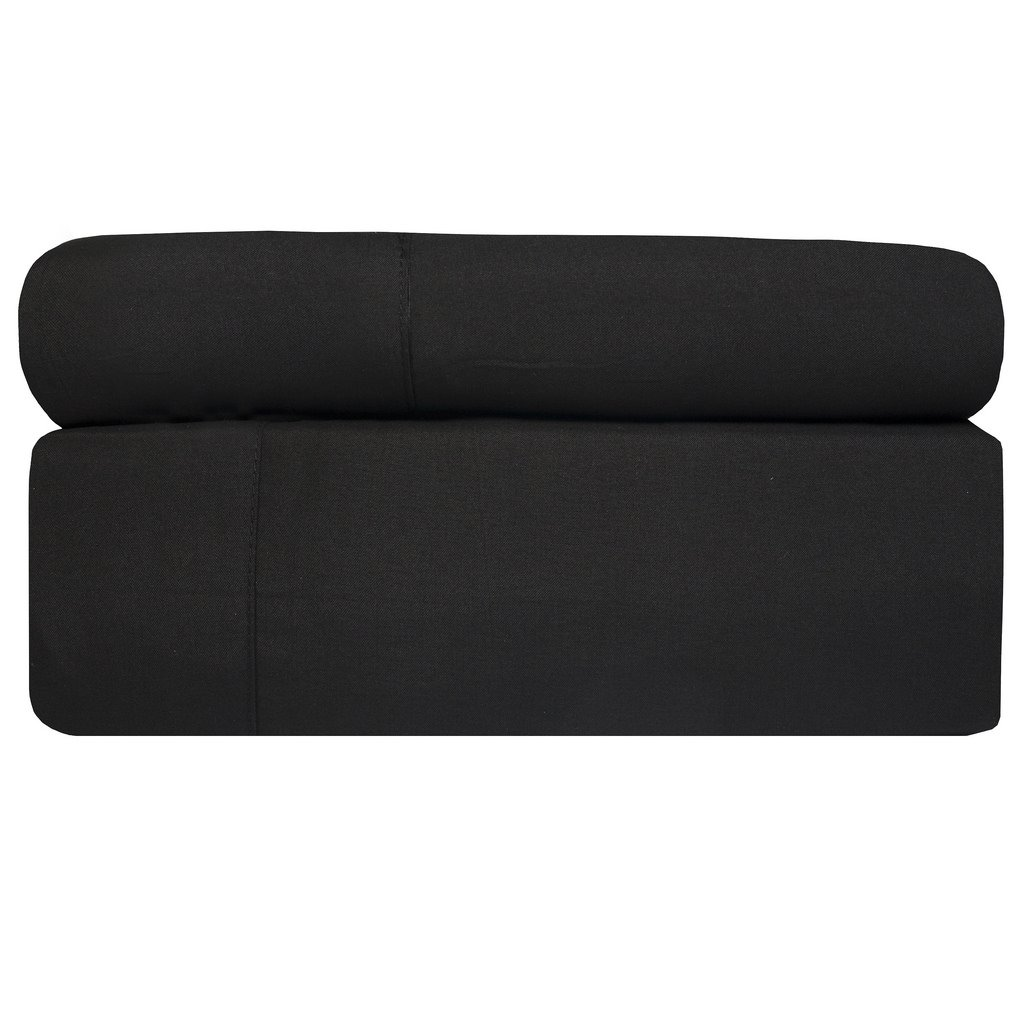 Aurora Bedding 1800 Series 4 Piece Bed Sheet Set With Deep Pocket & 1 Extra Pillowcase, Twin, Black