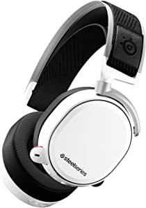 SteelSeries Arctis Pro Wireless - Gaming Headset - Hi-Res Speaker Drivers - Dual Wireless (2.4G & Bluetooth) - Dual Battery System - White