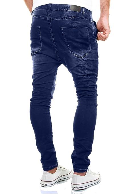 111da577cd MERISH Pantalones Vaqueros Hombre con Tiro caído Slim Fit Modell J3012   Amazon.es  Ropa y accesorios