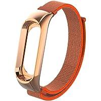 Cooljun pour Xiaomi MI Band 3,Bande de Remplacement en Nylon Bracelet Sport Bracelet avec boîtier