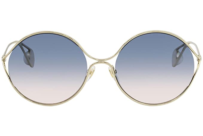 3351b90c37 Amazon.com  GUCCI GG 0253S 005 GOLD GOLD MULTICOLOR SUNGLASSES  Clothing