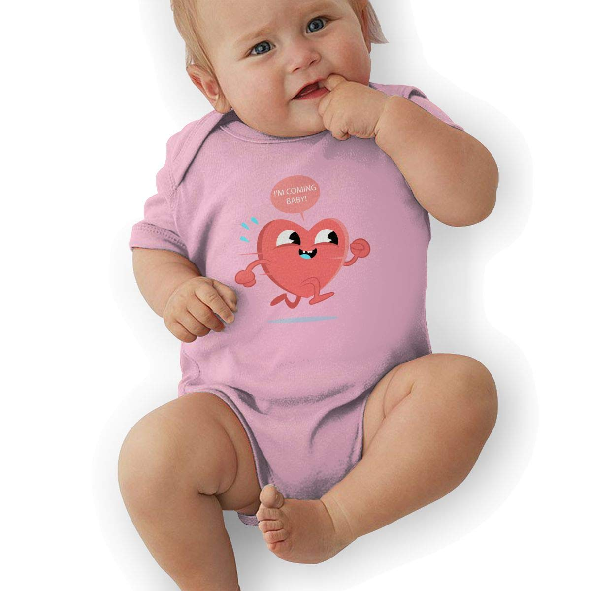 Infant Baby Girls Bodysuit Short-Sleeve Onesie Im Coming Baby Print Jumpsuit Autumn Pajamas