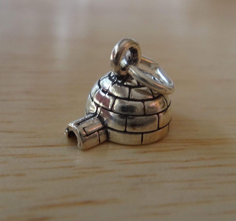 Sterling Silver 3D 10x10mm Eskimo Small Igloo Charm
