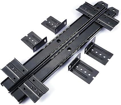 HomDSim - Guía deslizante para teclado de escritorio, con rodamiento de bolas, 35,5 cm, 3/4 de extensión, de acero, ajustable, de alta capacidad, ...