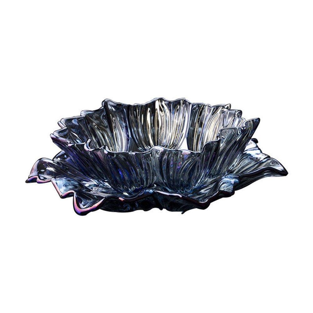 Utilidad de escritorio adornos de cristal, girasol creativa kit de bandeja de hospitalidad boutique estilo europeo minimalista casa fruta Fruta , azul agua ...