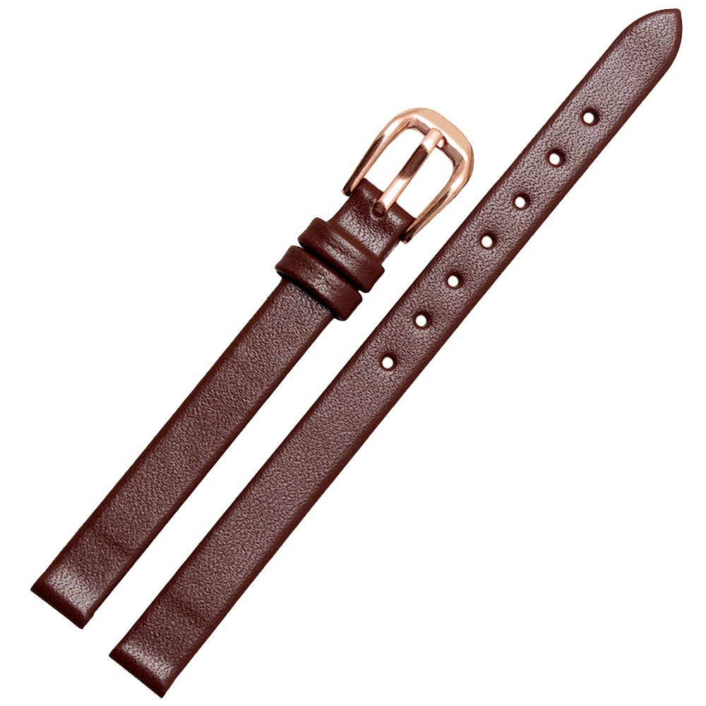 zhuolei 6 mm8 mm10 mm12 mm14 mm 4色本革汎用for EA / GA Armani 8mm Brown band with rosegold buckle 8mm Brown band with rosegold buckle Brown band with rosegold buckle 8mm B078M67QVB