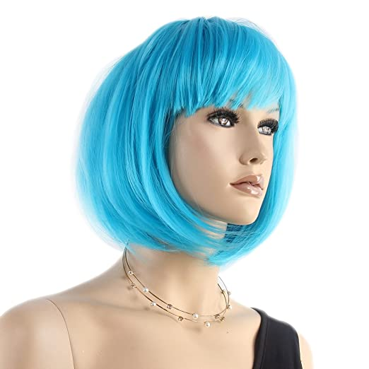 Amazon.com : Stfantasy Bob Wigs for Women Short Straight Heat Resistant Synthetic Hair 12