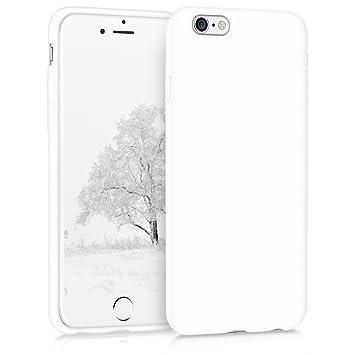kwmobile Funda compatible con Apple iPhone 6 / 6S - Carcasa de [TPU silicona] - Protector [trasero] en [blanco mate]