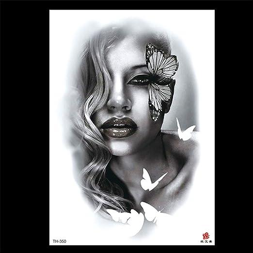zgmtj Etiqueta engomada Especial del Tatuaje del Brazo de la Flor ...
