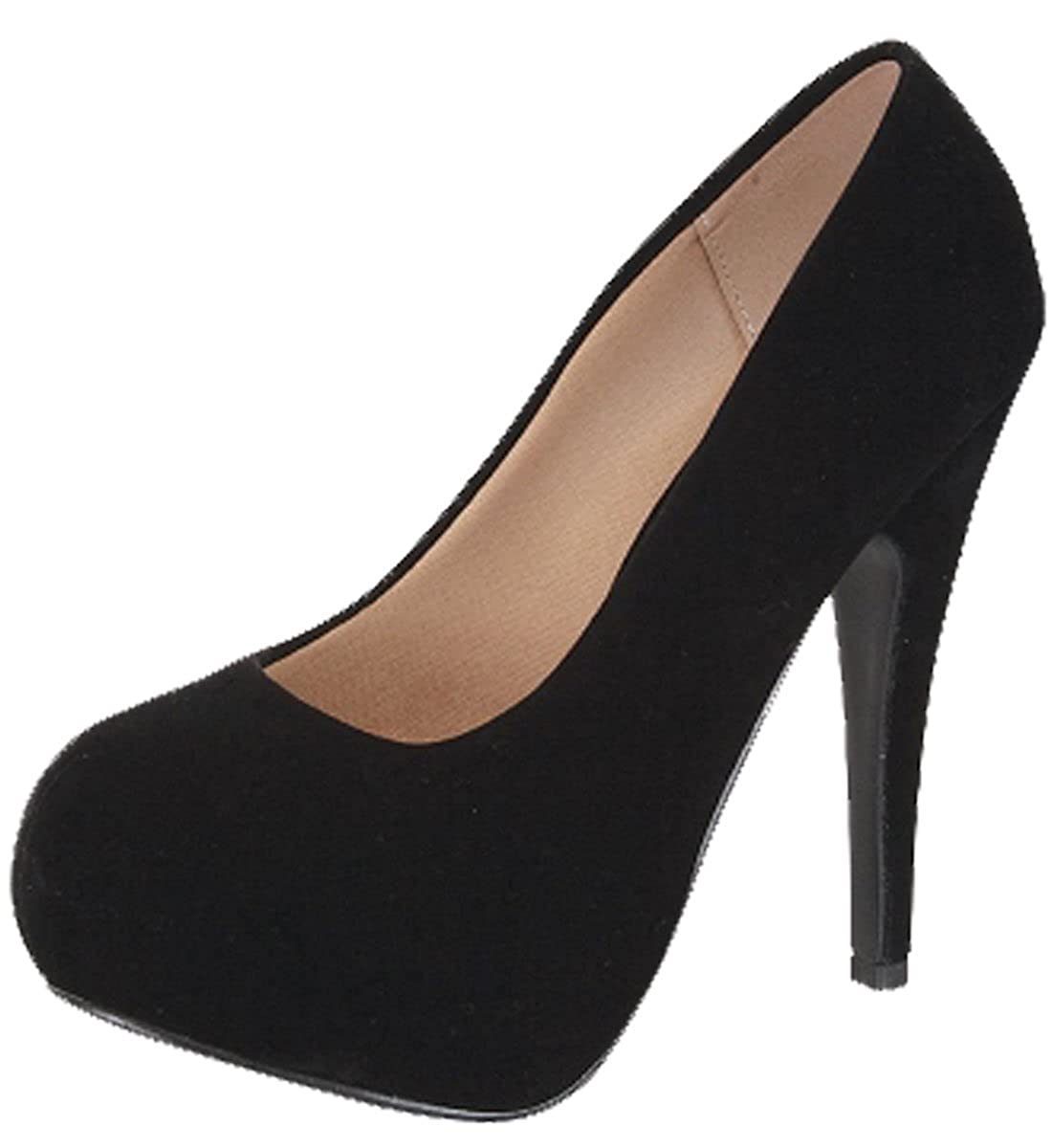 Forever Link Women's Sunset-89 Suede Closed Toe Dress Pumps