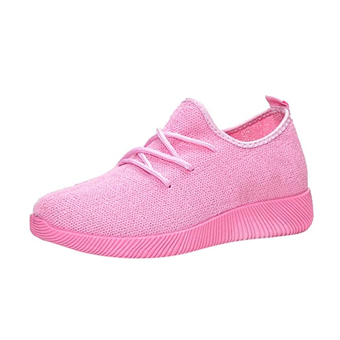 Amazon.com | LLNONG Women Breathable Shallow Mouth Shoes Flying Woven Candy Color Net Shoes Lightweight Running Shoes | Shoes
