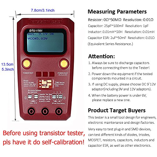 Transistor Tester Digital Multimeter Electronics Multi