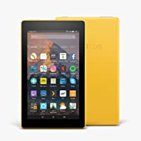 """Certified Refurbished Fire 7 Tablet with Alexa, 7"""" Display, 8 GB, Yellow — with Special Offers (Previous Generation - 7th)"""