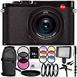 Leica Q (Typ 116) Digital Camera (Black) 12PC Accessory Bundle – Includes 3 Piece Filter Kit (UV + CPL + FLD) + 4PC Macro Filter Set (+1,+2,+4,+10) + MORE